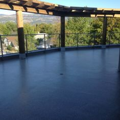 Waterproof system for rooftop patio